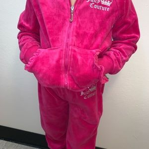 Pink juicy couture track suit